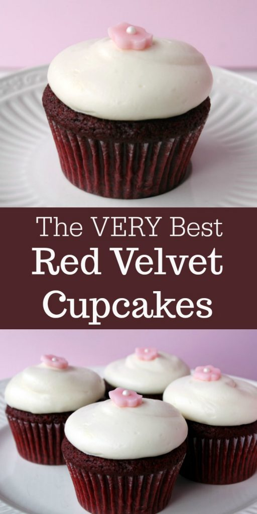 The VERY BEST Red Velvet Cupcakes
