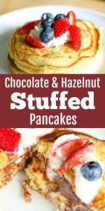 Chocolate & Hazelnut Stuffed Pancakes Recipe