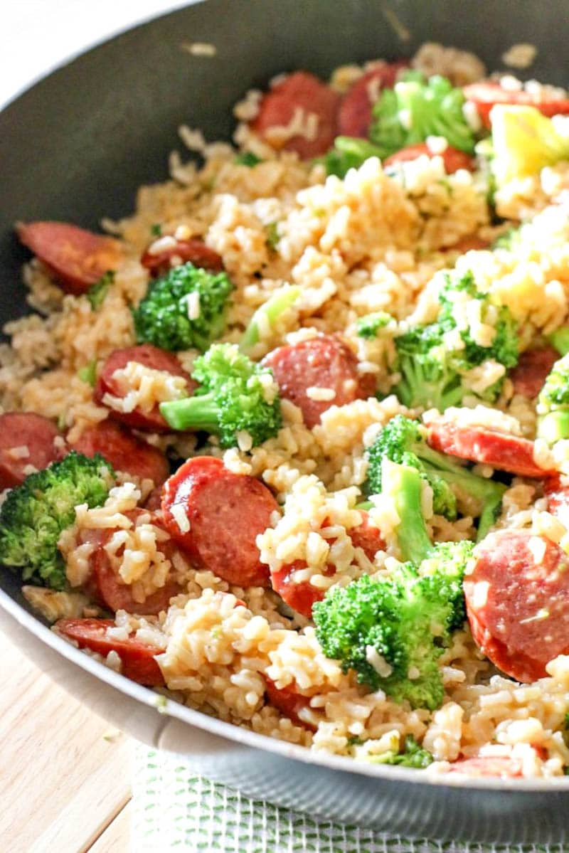 Smoked Sausage Rice One Skillet Meal All Things Mamma