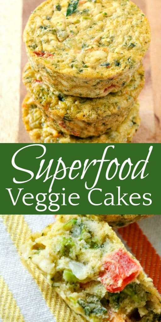 For a quick and healthy snack, try these Superfood Veggie Cakes! They're packed with veggies and delicious!