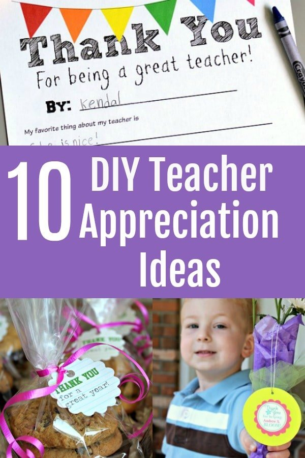 10 DIY Teacher Appreciation Gift Ideas