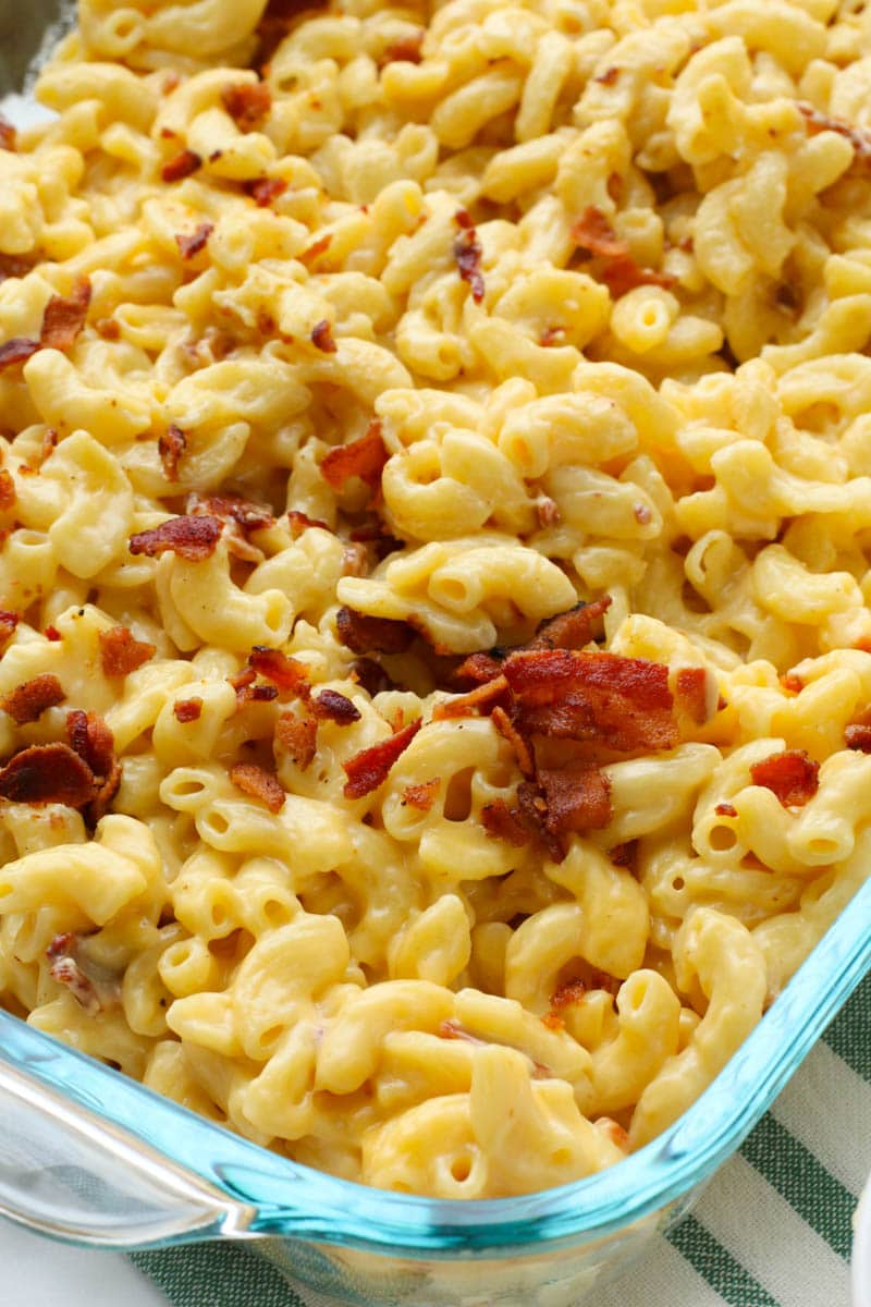 bacon mac and cheese casserole dish