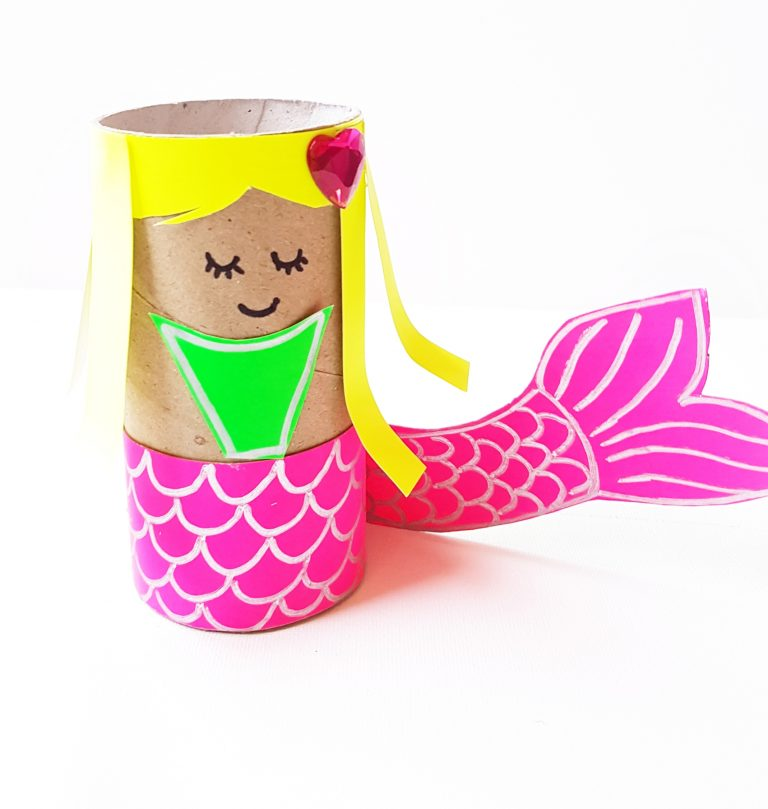 Kid Summer Crafts - Mermaid Paper Roll