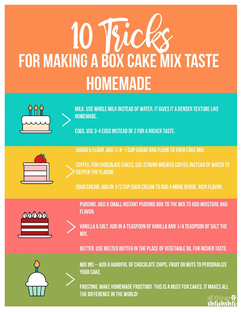 Printable Cake Mix Hacks