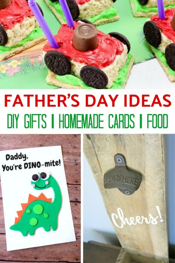Father's Day Gifts, Dinner Ideas, and more!! Make this Father's Day one that he will never forget. With a tasty main dish, epic desserts, and a few handmade gifts and cards to show you thought of him.