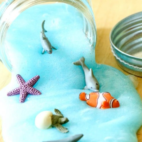 Kid Summer Crafts - Ocean Slime - All Things Mamma