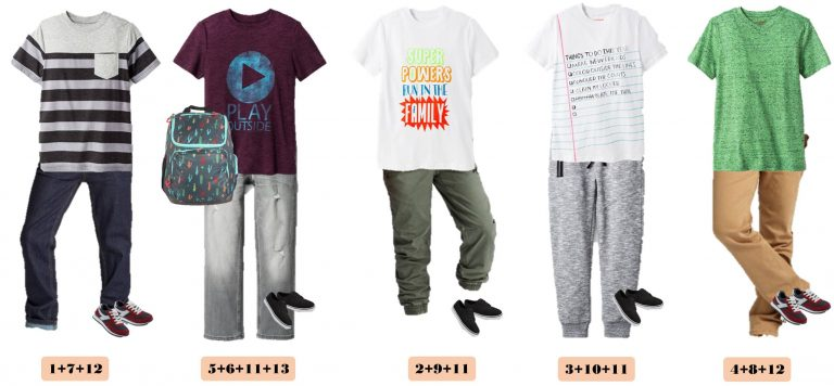Back to School - Boys Clothing Mix and Match- Everyday Savings
