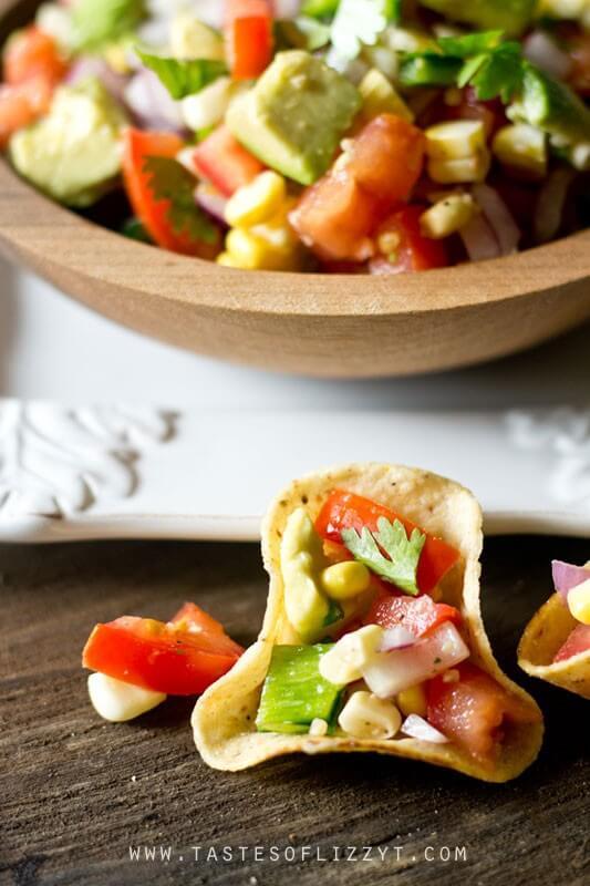 Potluck Dishes - Corn, Tomato, Avocado Salad-Taste of Lizzy T