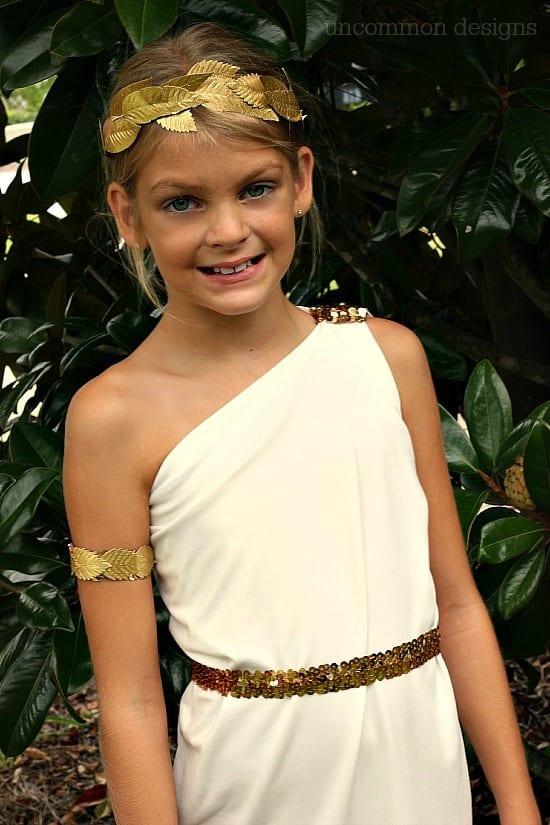 homemade kid costumes greek goddess