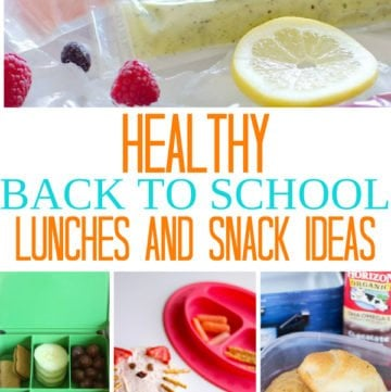 Healthy Back to School Lunch Ideas And After School Snacks