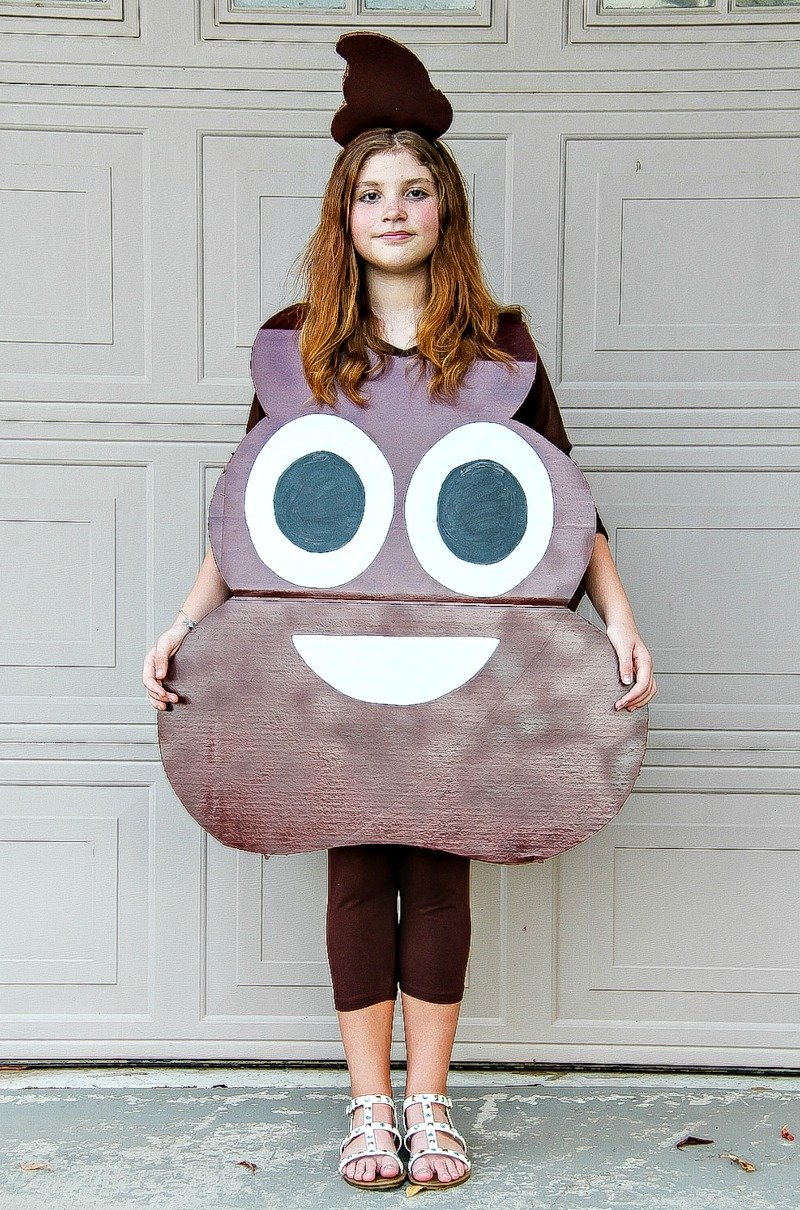 Homemade Costumes for Kids - Poop Emoji