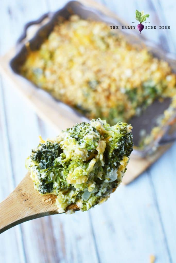 Potluck Dishes - Broccoli Casserole - Salty Side Dish