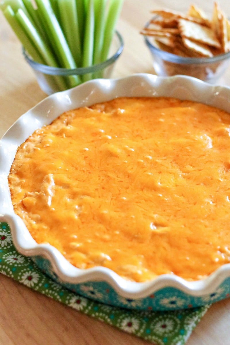 Potluck Dishes - Buffalo Chicken Dip- All Things Mamma