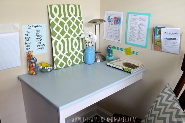 Back to School - Homework Station - The Happier Homemaker