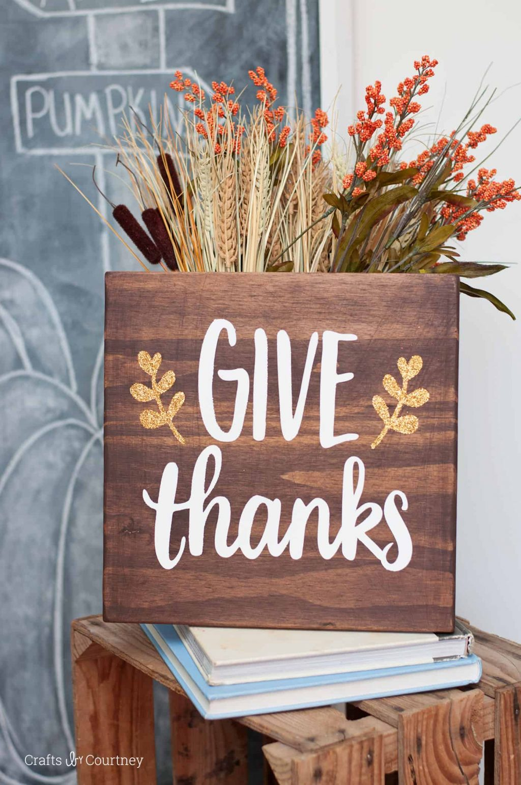 Thanksgiving Decorations - Give Thanks Sign