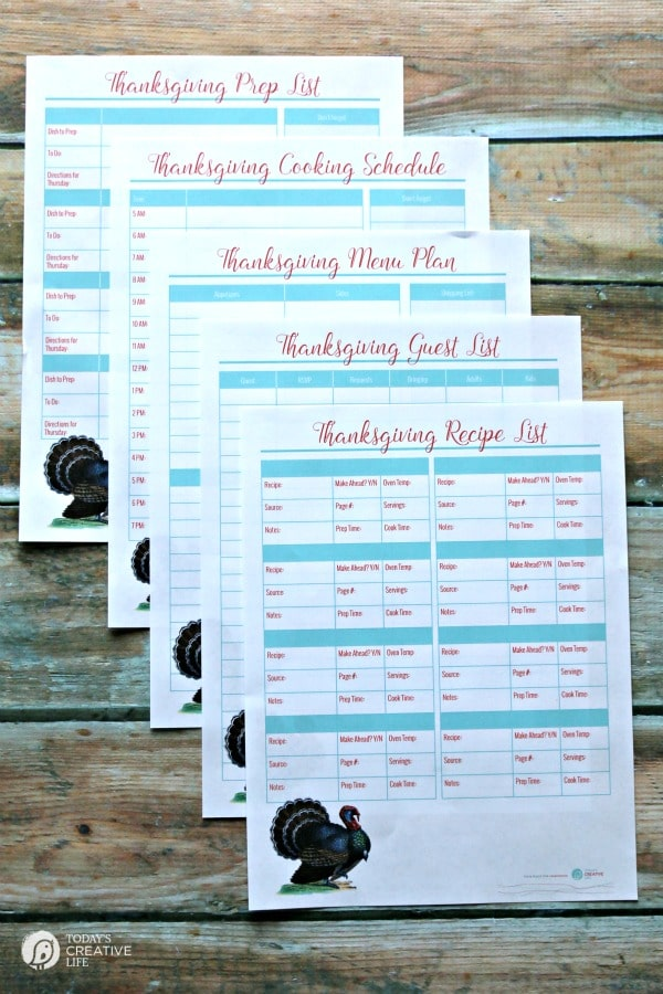 Thanksgivng Guide - Thanksgiving Printables