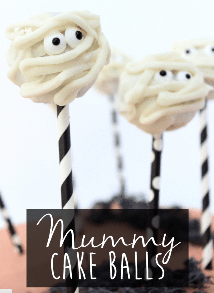 mummy cake balls halloween treats