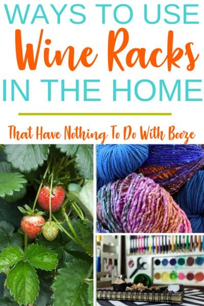 Genius Ways To Use Wine Racks In your Home that have nothing to do with booze! Get your home organized today!