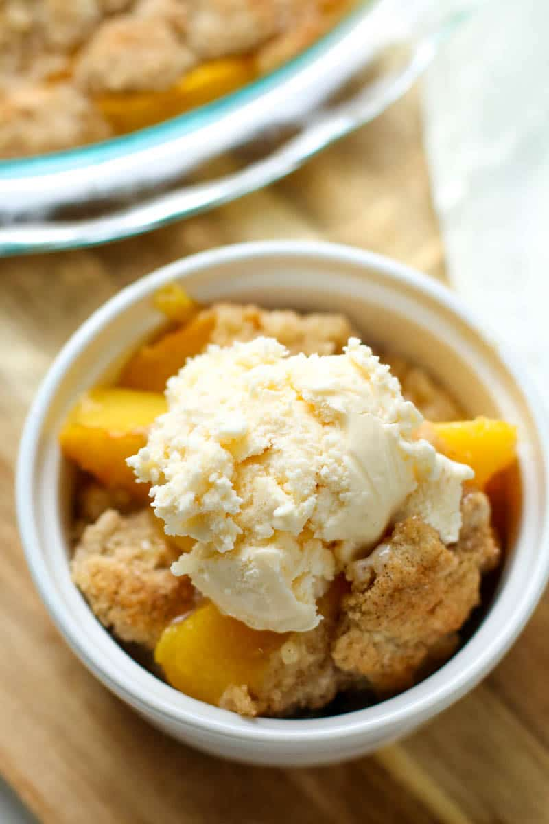 Easy Peach Cobbler Recipe All Things Mamma