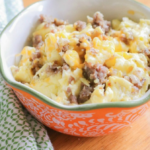 For a quick and easy breakfast meal, try these Sausage & Egg Breakfast Bowls! Easy to make and Trim Healthy Mama and Keto friendly! #breakfast #healthyfood #keto #trimheatlhymama #whole30 #allthingsmamma | allthingsmamma.com