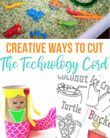 It's time to give the electronics a rest and do something creative with your kids with these Activities For Kids To Cut The Technology Cord!
