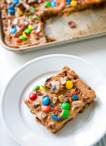 Chocolate Chip Candy Cookie Bar