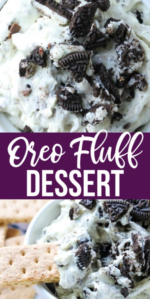 This Oreo Fluff Dessert is a super simple no-bake dessert that is creamy and delicious with just the right amount of sweetness to tame that sweet tooth of yours with only 5 simple ingredients! #oreodessert #nobakeoreodessert #nobakedessert #dessert #chocolate #oreos | allthingsmamma.com