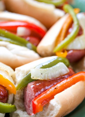 One-Pan Smoked Sausage & Pepper Hoagies