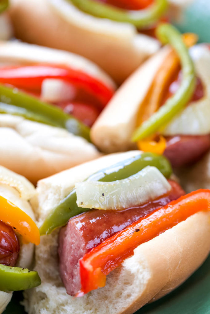 One-Pan Smoked  Sausage and Pepper Hoagies
