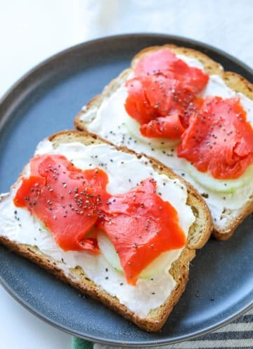 Cream Cheese & Smoked Salmon Toast