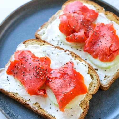 For a quick and easy cream cheese recipe that is good for you and delicious, try this Cream Cheese & Smoked Salmon Toast Recipe!
