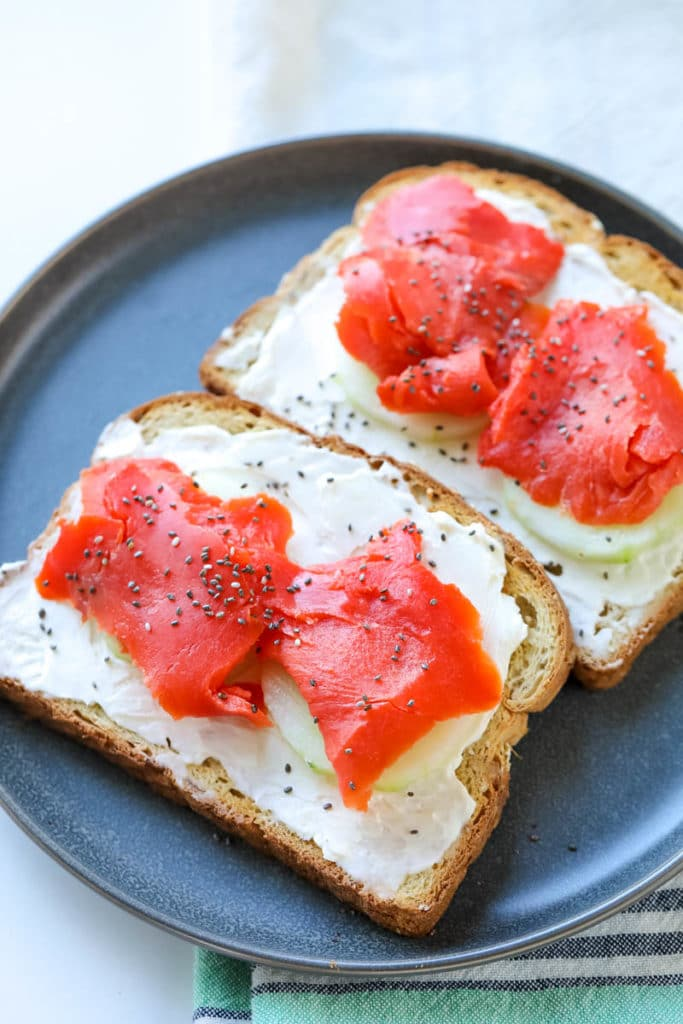Cream Cheese & Smoked Salmon Toast Recipe