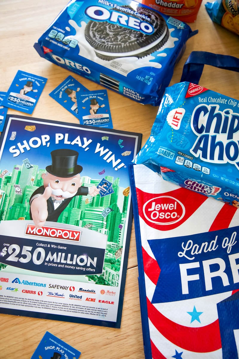 SHOP, PLAY, WIN!® Collect & Win Game featuring MONOPOLY at Jewel-Osco
