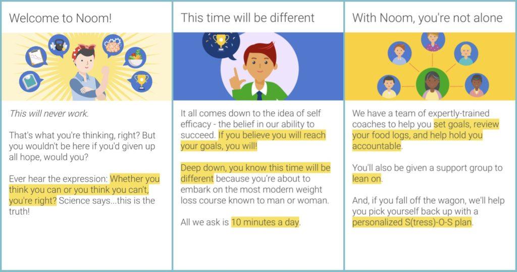 noom app screenshots