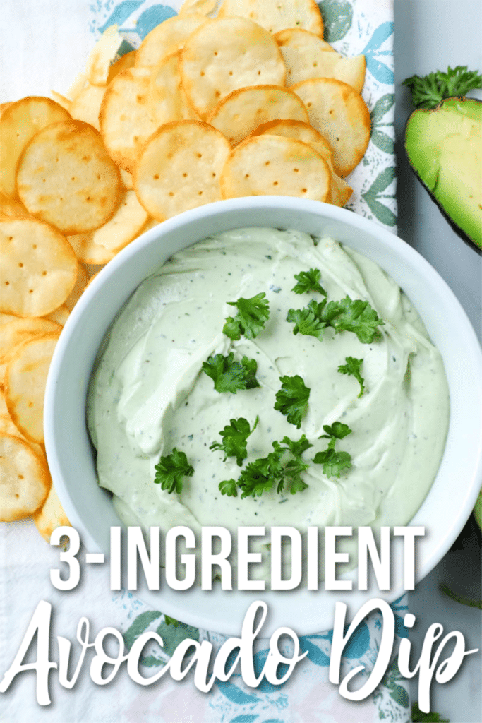 avocado dip with crackers