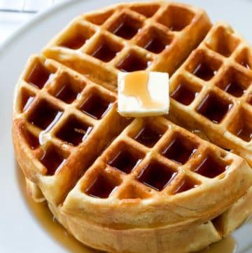 waffle recipe on a plate