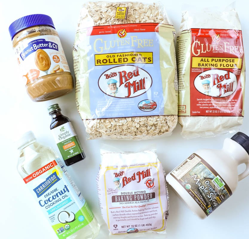 ingredients for oatmeal breakfast bars