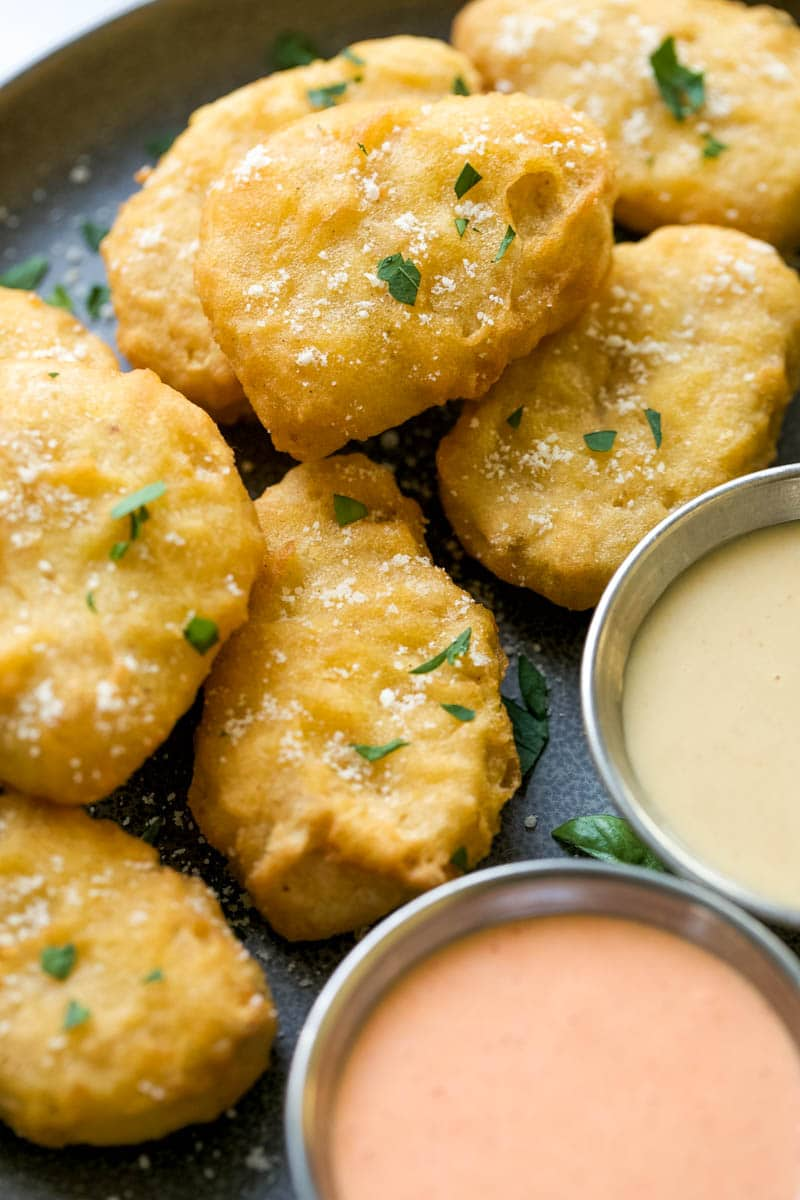 """Raised & Rooted Plant-Based Nuggets with """"Gourmet-Style"""" Dipping Sauce"""