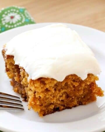 Pumpkin Caramel Poke Cake (From A Box Mix!)