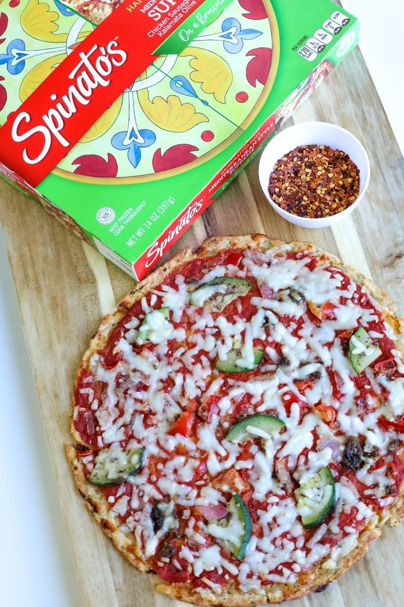 Spinato's Broccoli Crust Pizzas (Giveaway!!)