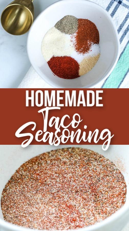 homemade taco seasoining