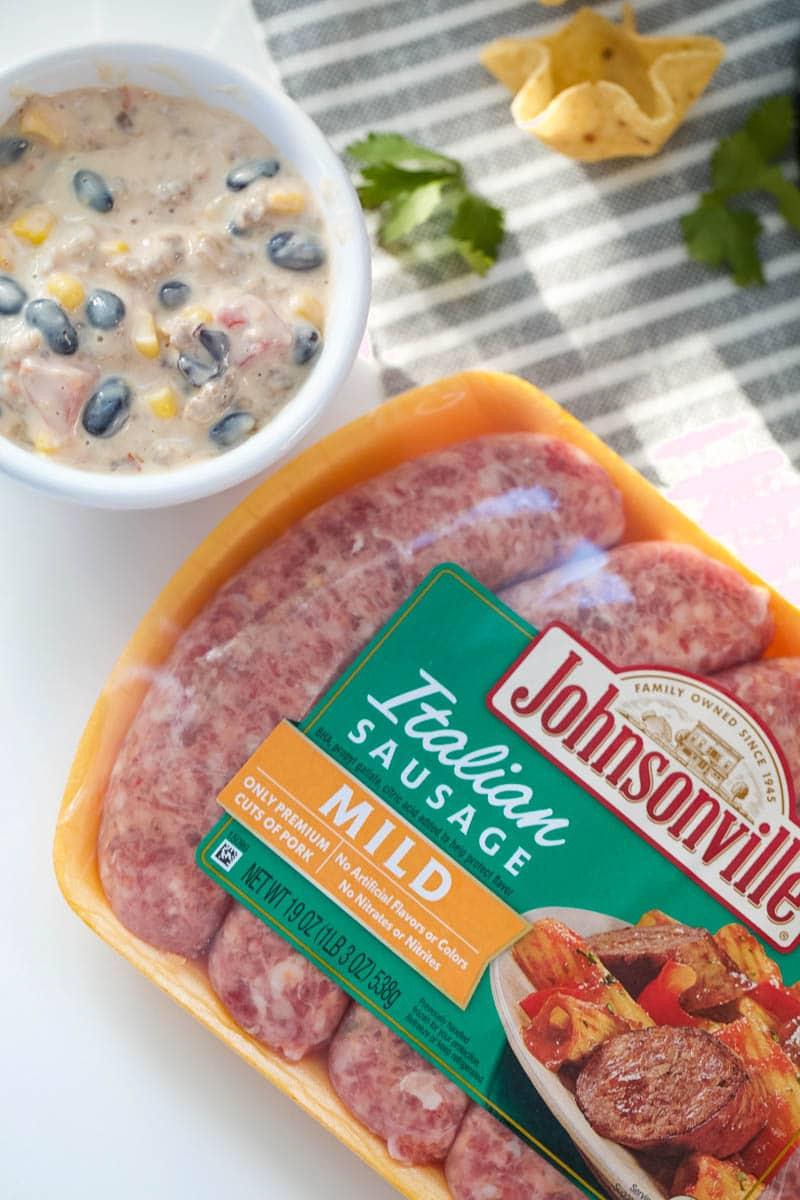 johnsonville sausage dip