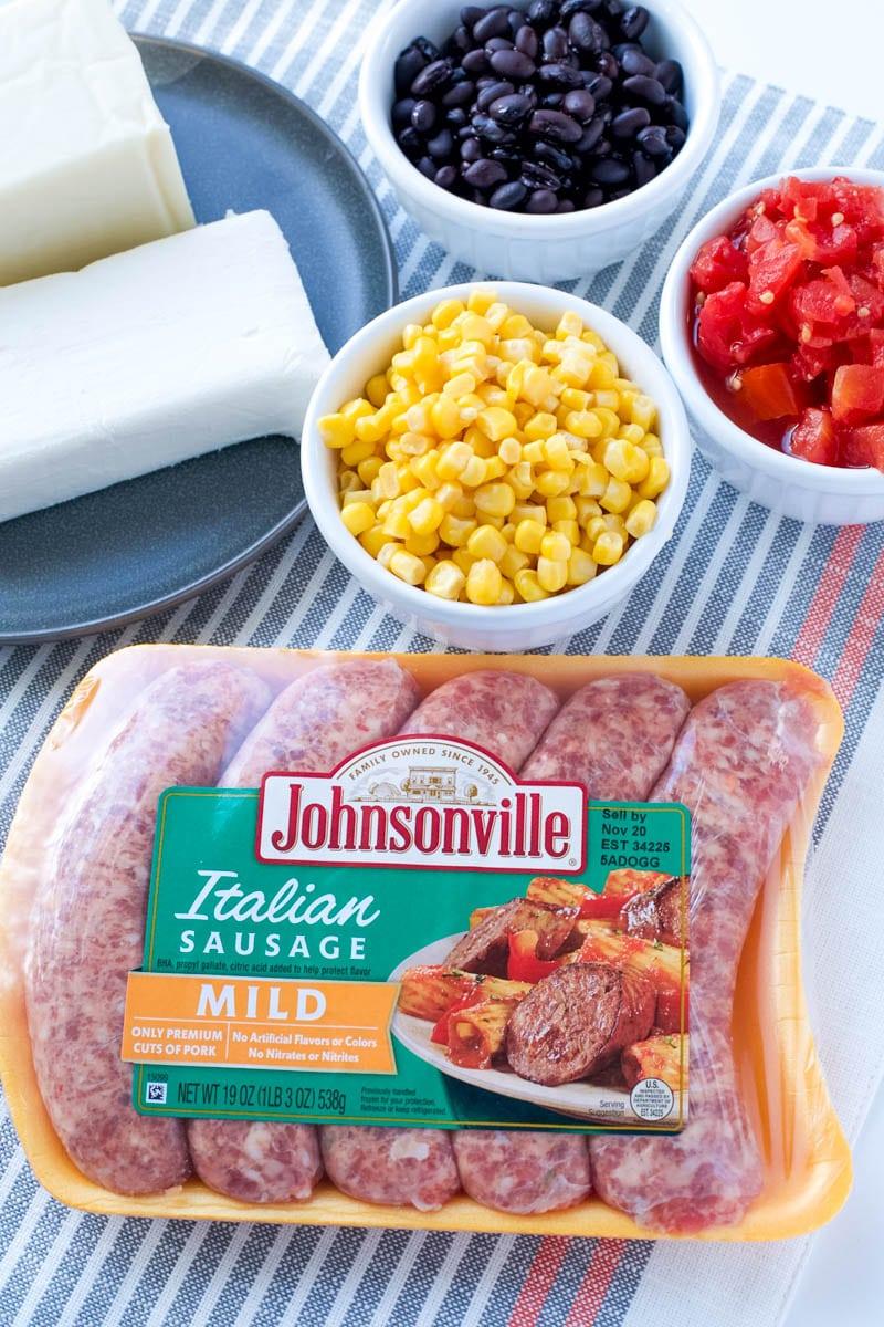 sausage cheese dip ingredients