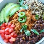 20-Minute Chicken Enchilada Bowls