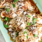 The Easiest Baked Cheesy Chicken with Mushrooms