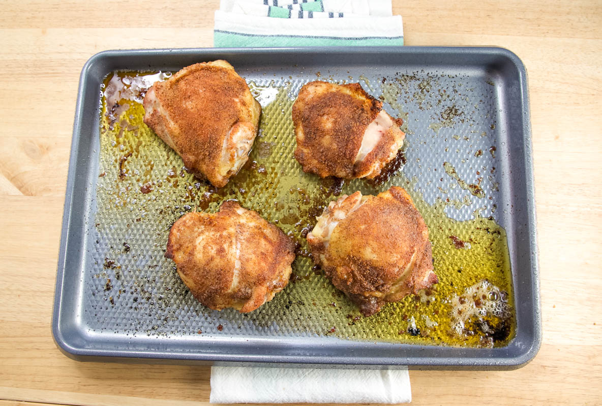 How To Get The Crispiest Baked Chicken Thighs