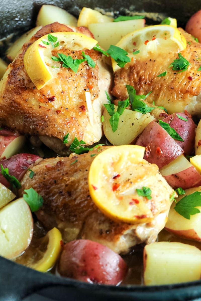 1 skillet baked chicken thighs