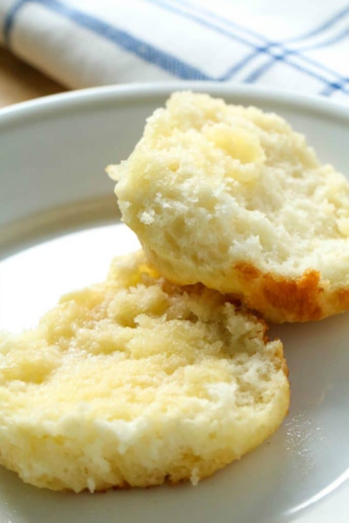3-Ingredient Bisquick Biscuits Recipe on a white plate