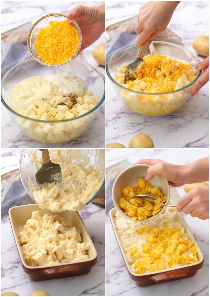 how to make cheesy potatoes