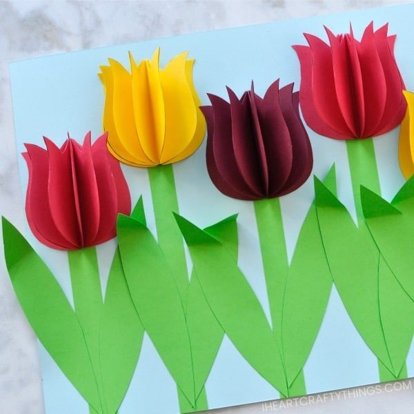 paper tulip craft